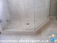 Installing shower drain after renovation