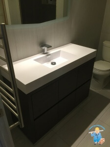 Vanity and toilet finish