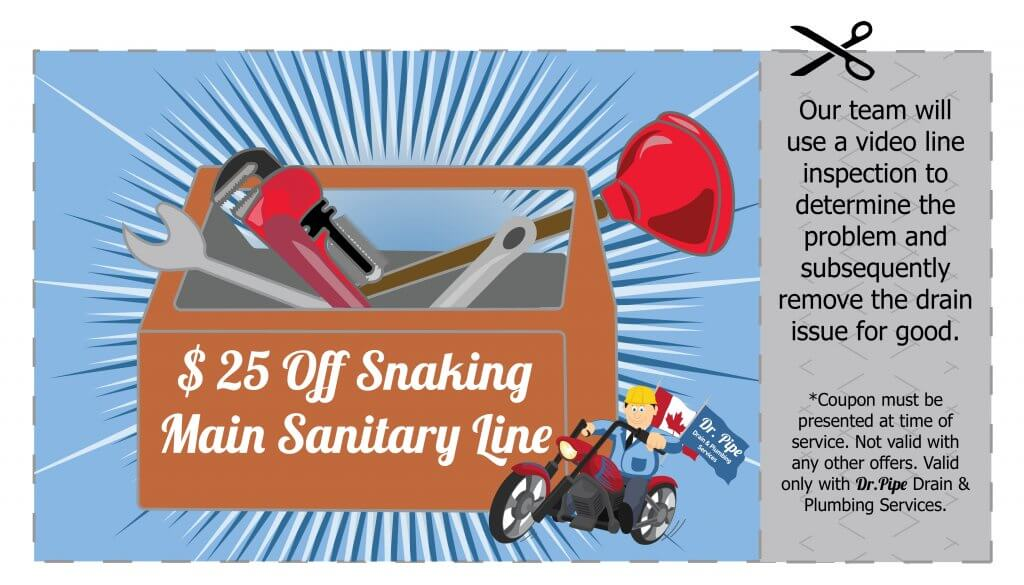Snaking Main Sanitary Line Coupon